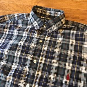 POLO🏇🏻Ralph Lauren Vintage Plaid Shirt Mens Lg